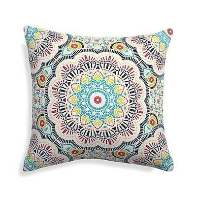 """Kaleidoscope 20"""" Sq. Outdoor Pillow-Multicolored- Polyester fiberfill insert - Crate and Barrel"""