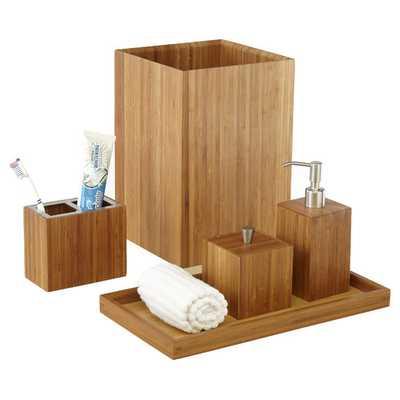 Bamboo 5 Piece Bath & Vanity Set - Wayfair