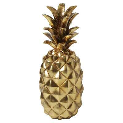 Gold Metallic Pineapple Figurine - Large - Wayfair