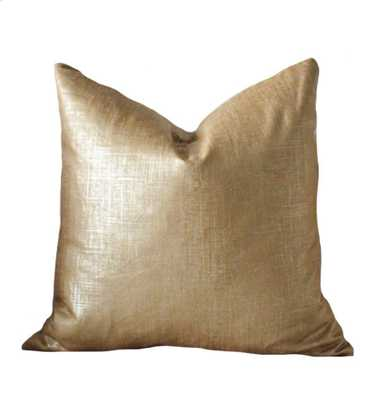 "Bronze Gold Pillow - 18""x 18""- Insert Sold Separately - Etsy"