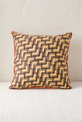 """Earthy Optical Pillow- 18""""l x 18""""w- Purple- Polyfill insert - Urban Outfitters"""