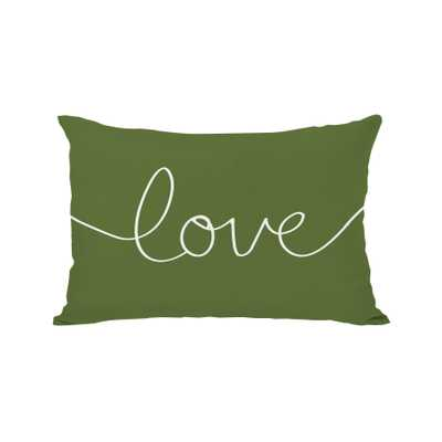 "Holiday ""Love"" Mix and Match Lumbar Pillow - Insert included - Wayfair"