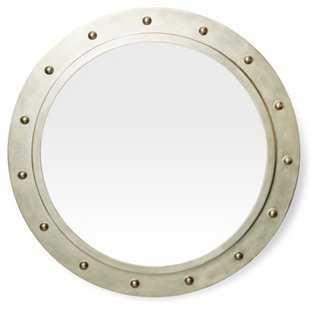 Porthole Mirror, Silver - One Kings Lane