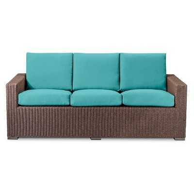 Threshold™ Heatherstone All Weather Wicker Sofa - Turquoise - Target