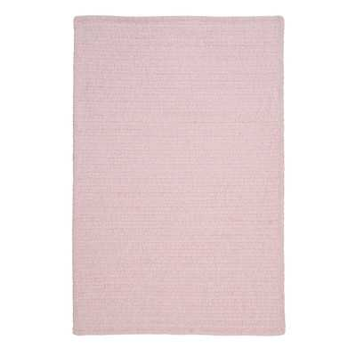 Solid Chenille Pink Area Rug - Wayfair