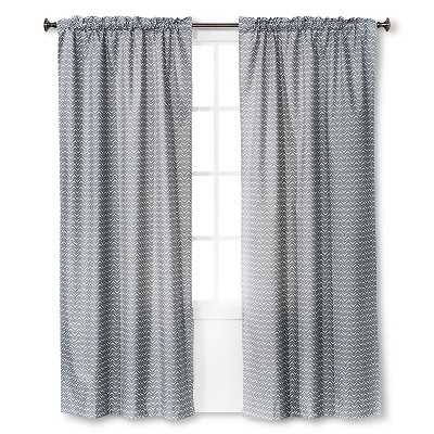 Light Blocking Curtain Panel - Gray Chevron (42x84) - Target