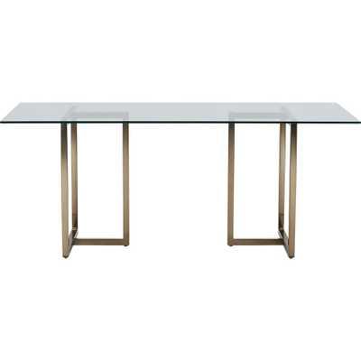 "Silverado brass 72"" rectangular dining table - CB2"