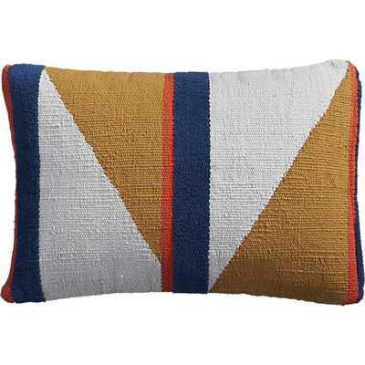 "Herron primary + shape 18""x12"" pillow with down-alternative insert - CB2"