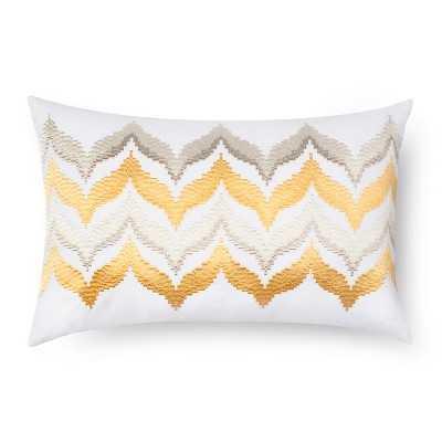 """Sabrina Sotoâ""""¢ Kuna Embroidered Rectangle Pillow - 18""""x12"""" - Yellow - Target"""