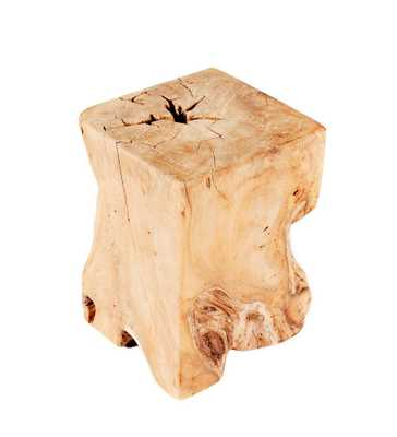 Natural Teak Wood End Table - Domino
