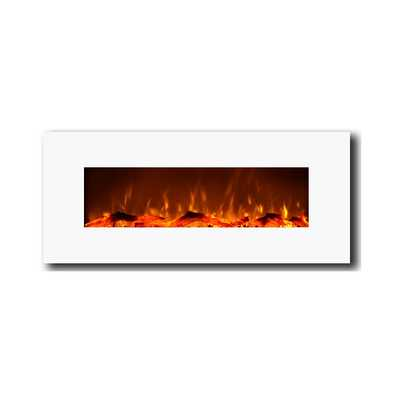"50"" Electric Wall Mounted Fireplace - Wayfair"