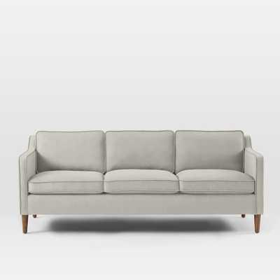 "Hamilton Upholstered Sofa - 81"", Basketweave, Putty Gray - West Elm"