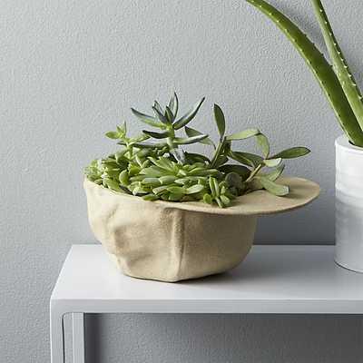 stoneware hat planter - CB2