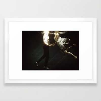"""Abyss of the disheartened VII - FRAMED ART PRINT/ VECTOR WHITE SMALL (21"""" X 15"""") - Society6"""