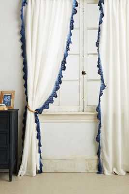 "Santina Lace Curtain - 96"" - Blue - Anthropologie"