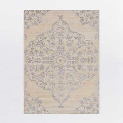 Faded Bloom Rug - Natural - 5' x 8' - West Elm