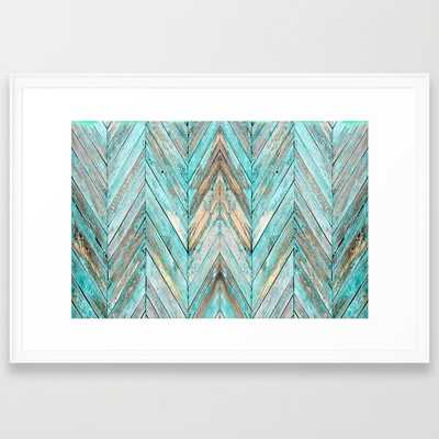 "Wood Texture 1 - FRAMED ART PRINT/ SCOOP WHITE LARGE (GALLERY) (38"" X 26"") - Society6"