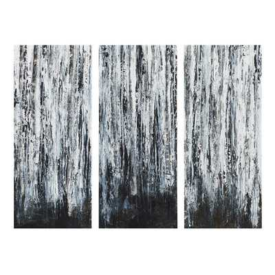 """Birch Forest by Hutton 3 Piece Graphic Art on Wrapped Canvas -35"""" x 45""""-Unframed - Wayfair"""