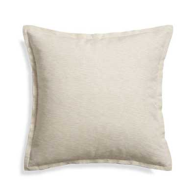 """Linden Natural 23"""" Pillow with Feather-Down Insert - Crate and Barrel"""