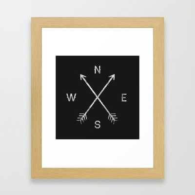 "Compass - 10"" X 12"" - Conservation natural frame - Society6"