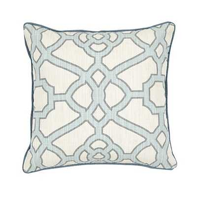 Meyers Pillow - Sky, 18x18, With Insert - Ballard Designs