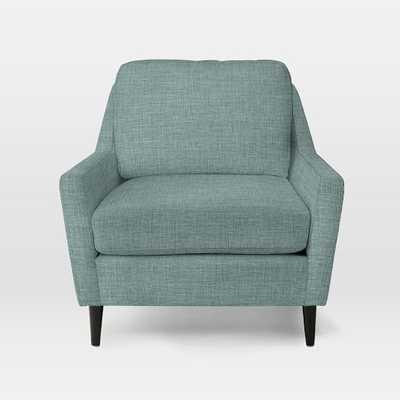 Everett Chair-Heathered Weave-Eucalyptus - West Elm