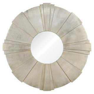 "40"" Terzo Wall Mirror, Antiqued Silver - One Kings Lane"