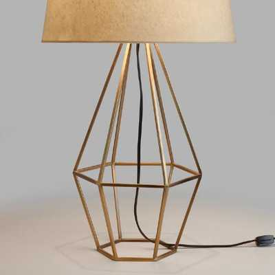Brass Diamond Table Lamp Base - World Market/Cost Plus