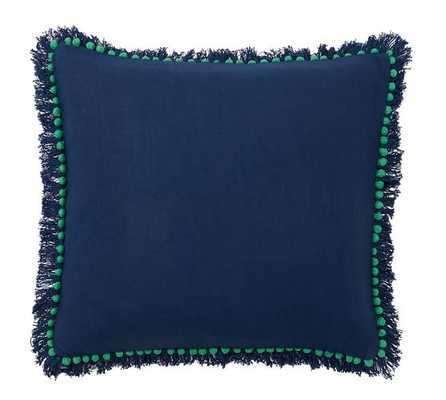 "Bauble Fringe Pillow Cover - Blue/Green - 18"" x 18"" - Insert Sold Separately - Pottery Barn"
