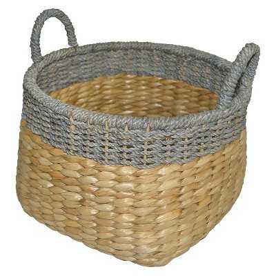 Round Seagrass Wicker Storage Basket - Target