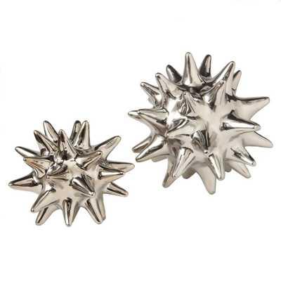 DwellStudio Urchin - Bright Silver - Large - Domino