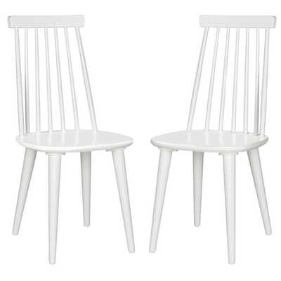 Safavieh Burris White Wood Side Chairs (Set of 2) - Overstock