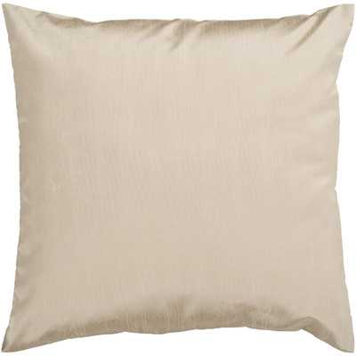 "Appley Solid Luxe Throw Pillow- 22"" Sq- With Down insert - Wayfair"