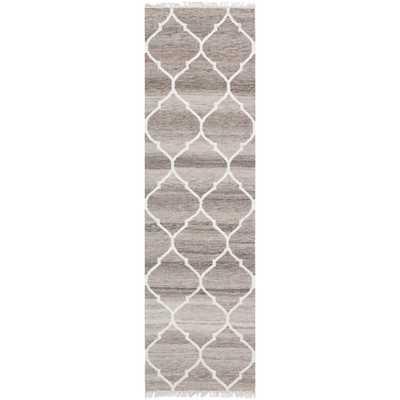 Safavieh Hand-woven Natural Kilim Light Grey/ Ivory Wool Rug (2'3 x 10') - Overstock