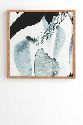 """ABSTRACTM5 Bamboo Framed Wall Art - 20"""" x 20"""" - No Mat - Wander Print Co."""