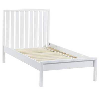 Twin White Cargo Low Footboard Bed - Land of Nod