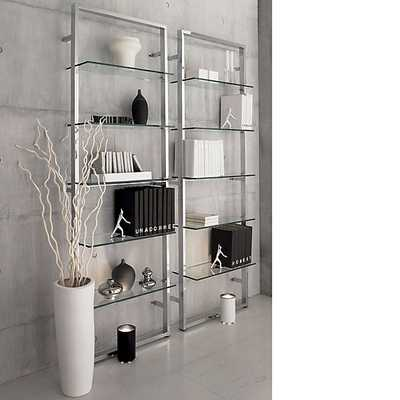 "tesso 84"" wall mounted bookcase - CB2"