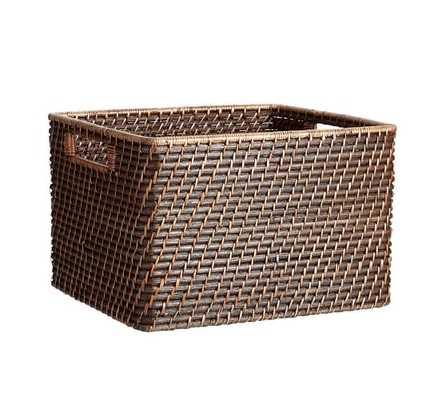 Clive Tightweave Utility Basket - Espresso; Small - Pottery Barn