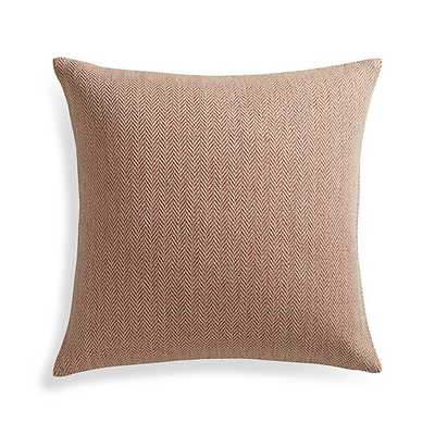 """Mylo Orange 20"""" Pillow with Down-Alternative Insert - Crate and Barrel"""