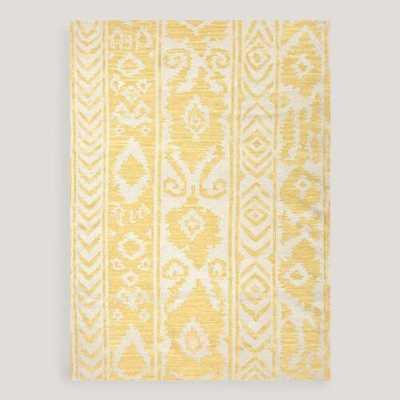 Yellow Lucine Flat-Woven Wool Rug - World Market/Cost Plus