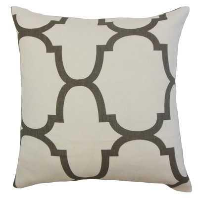 """Cascade Geometric Linen Throw Pillow Cover- Clove- 18"""" H x 18"""" W x 5"""" D- Insert Sold Separately - Wayfair"""