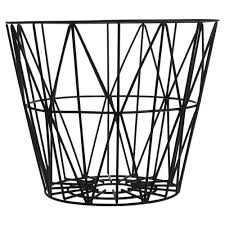Wire Basket Medium - Black - Domino