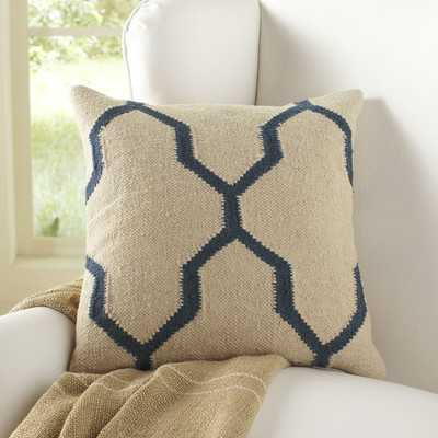 Becca Pillow Cover - Parchment/Blue - 18sq. - Insert sold separately - Wayfair