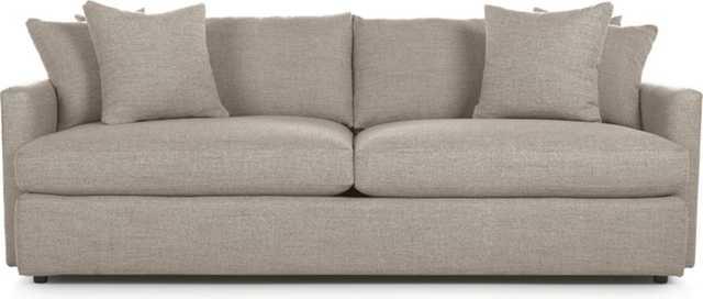 "Lounge II 93"" Sofa - Taft Heather - Crate and Barrel"