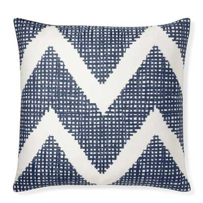 Chevron Crosshatch Pillow Cover - 20x20, No Insert - Williams Sonoma