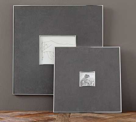 Gray Linen & Silver Frames - Pottery Barn