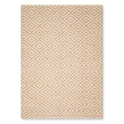 Cream and Metallic Diamond Area Rug - Target