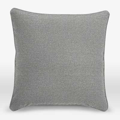 Upholstery Fabric Pillow Cover - 18x18, Feather Grey, Plain Seam - West Elm