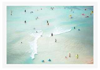 """Max Wanger, Waikiki No. 6 - 39.5""""L x 27.5""""W - Framed (White) - One Kings Lane"""