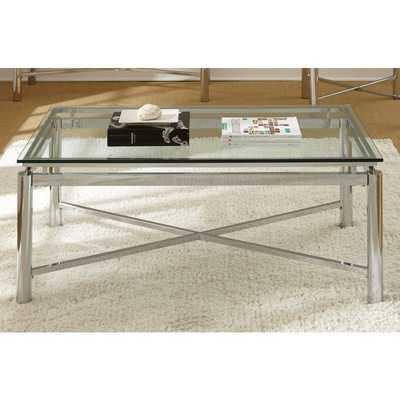 Greyson Living Natal Chrome and Glass Coffee Table - Overstock